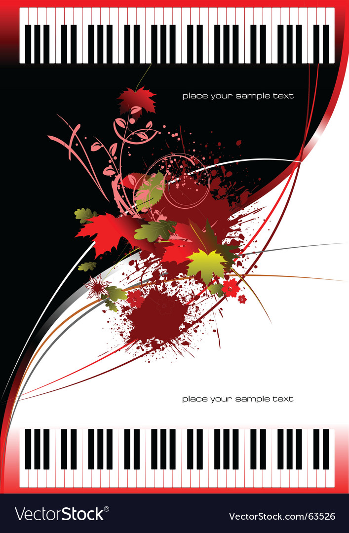 Two pianos vector | Price: 1 Credit (USD $1)