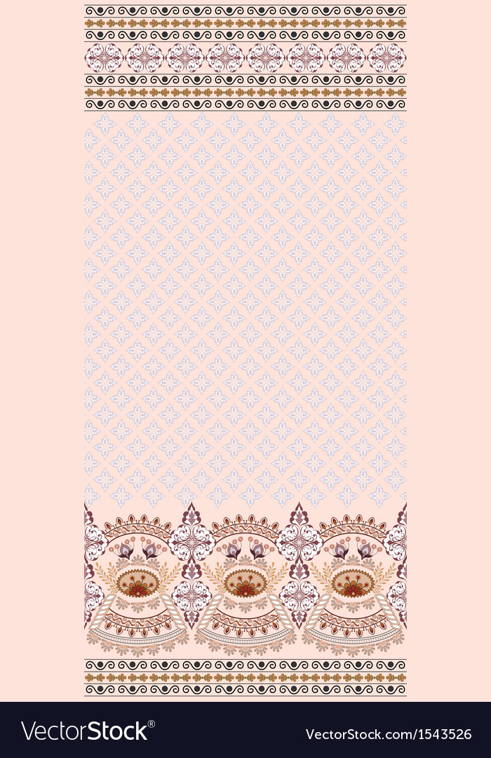 Vintage pink card finely patterned and wide border vector | Price: 1 Credit (USD $1)