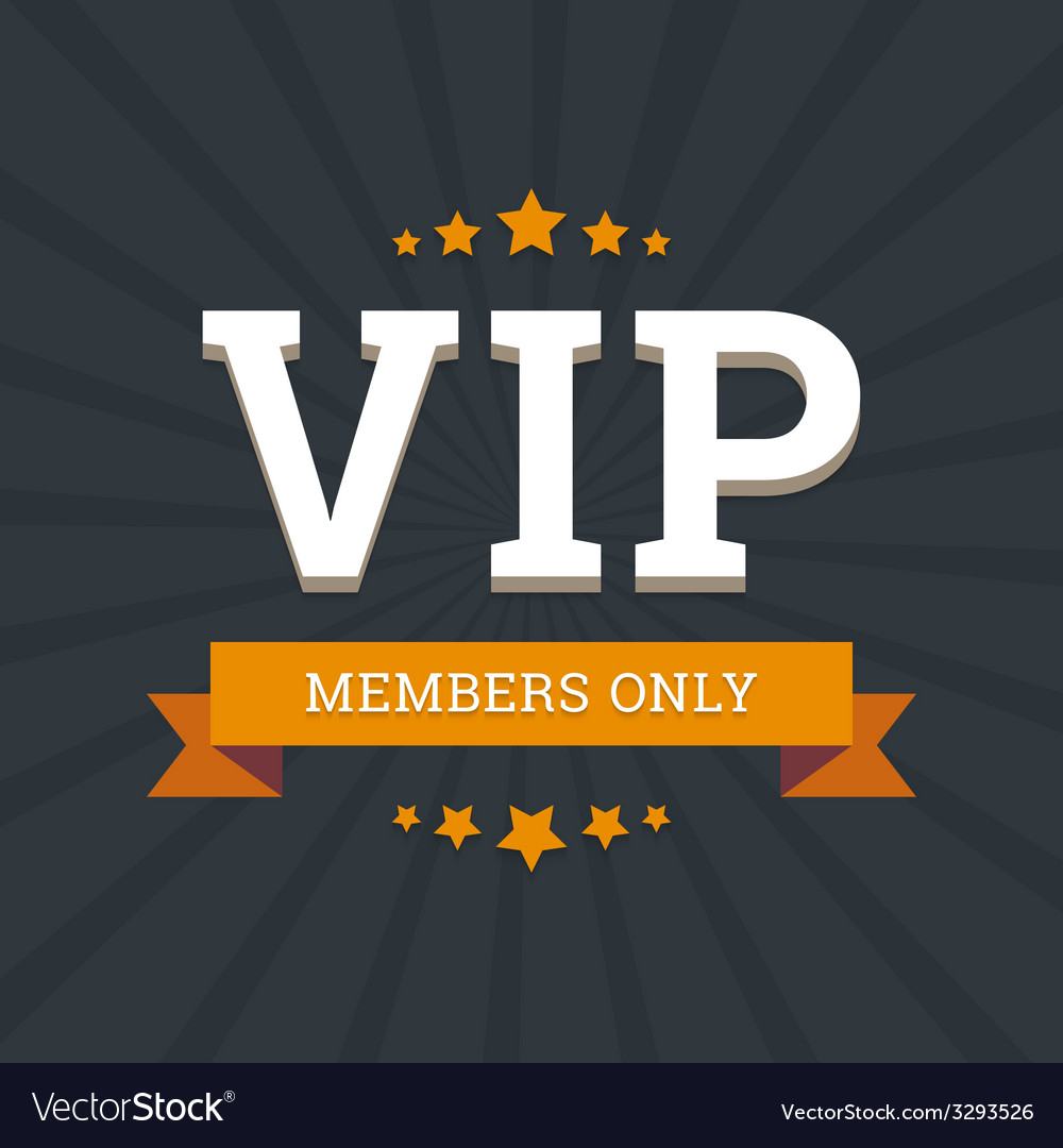 Vip - members only background card template with vector | Price: 1 Credit (USD $1)