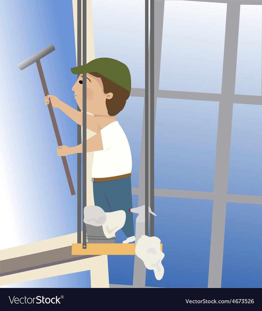 Window washer vector | Price: 1 Credit (USD $1)