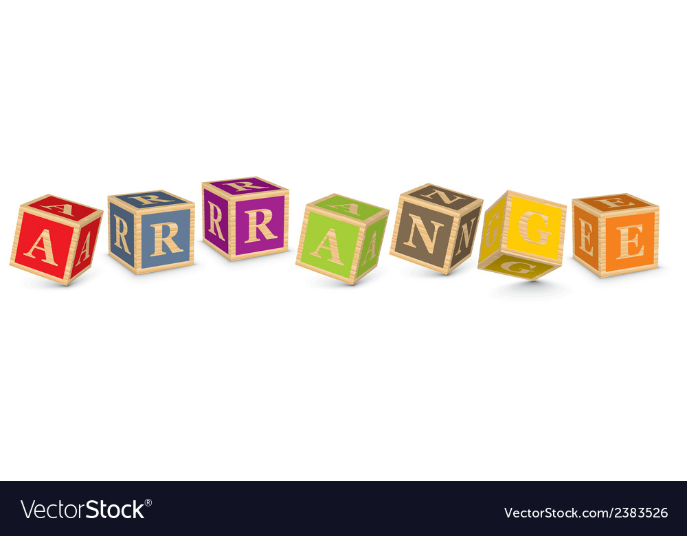 Word arrange written with alphabet blocks vector | Price: 1 Credit (USD $1)