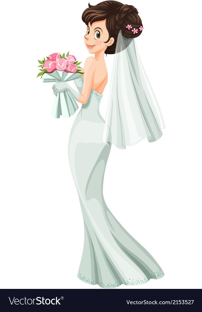 A beautiful bride vector | Price: 1 Credit (USD $1)