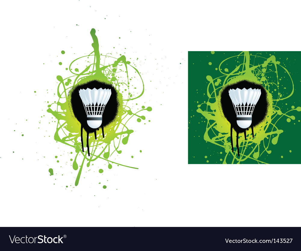 Badminton splat vector | Price: 1 Credit (USD $1)