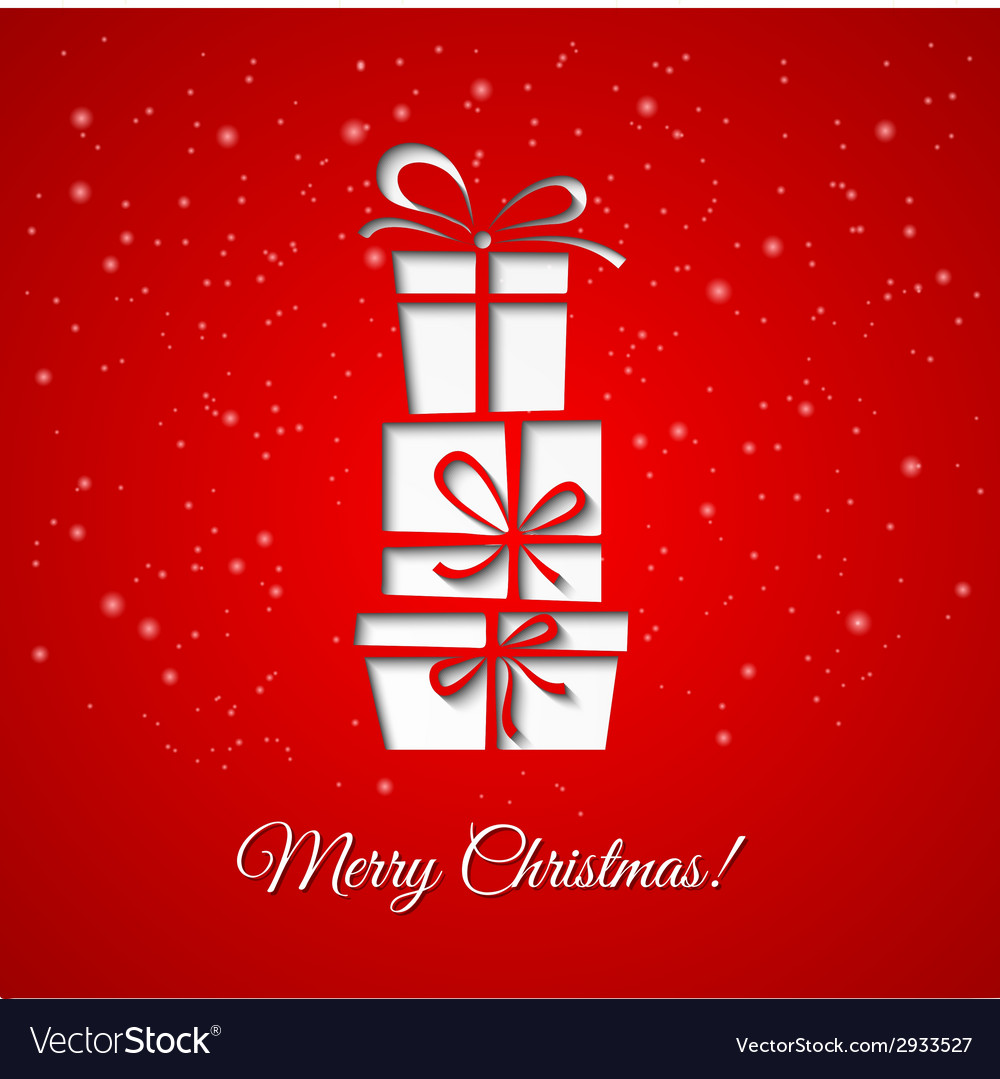 Christmas gift decoration background vector | Price: 1 Credit (USD $1)