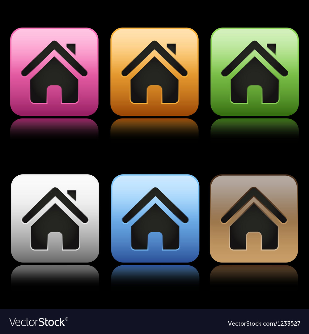 Colorful home icons vector | Price: 1 Credit (USD $1)
