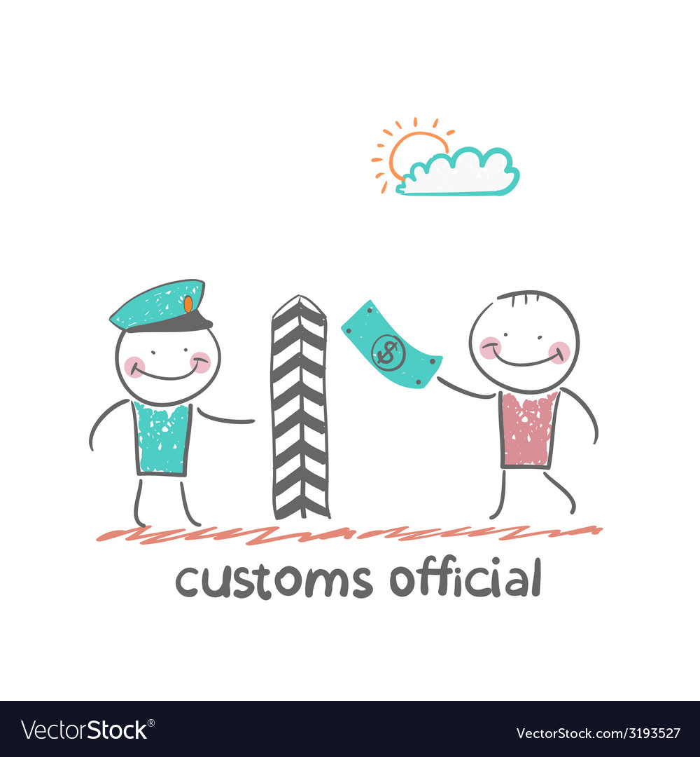 Customs officer vector | Price: 1 Credit (USD $1)