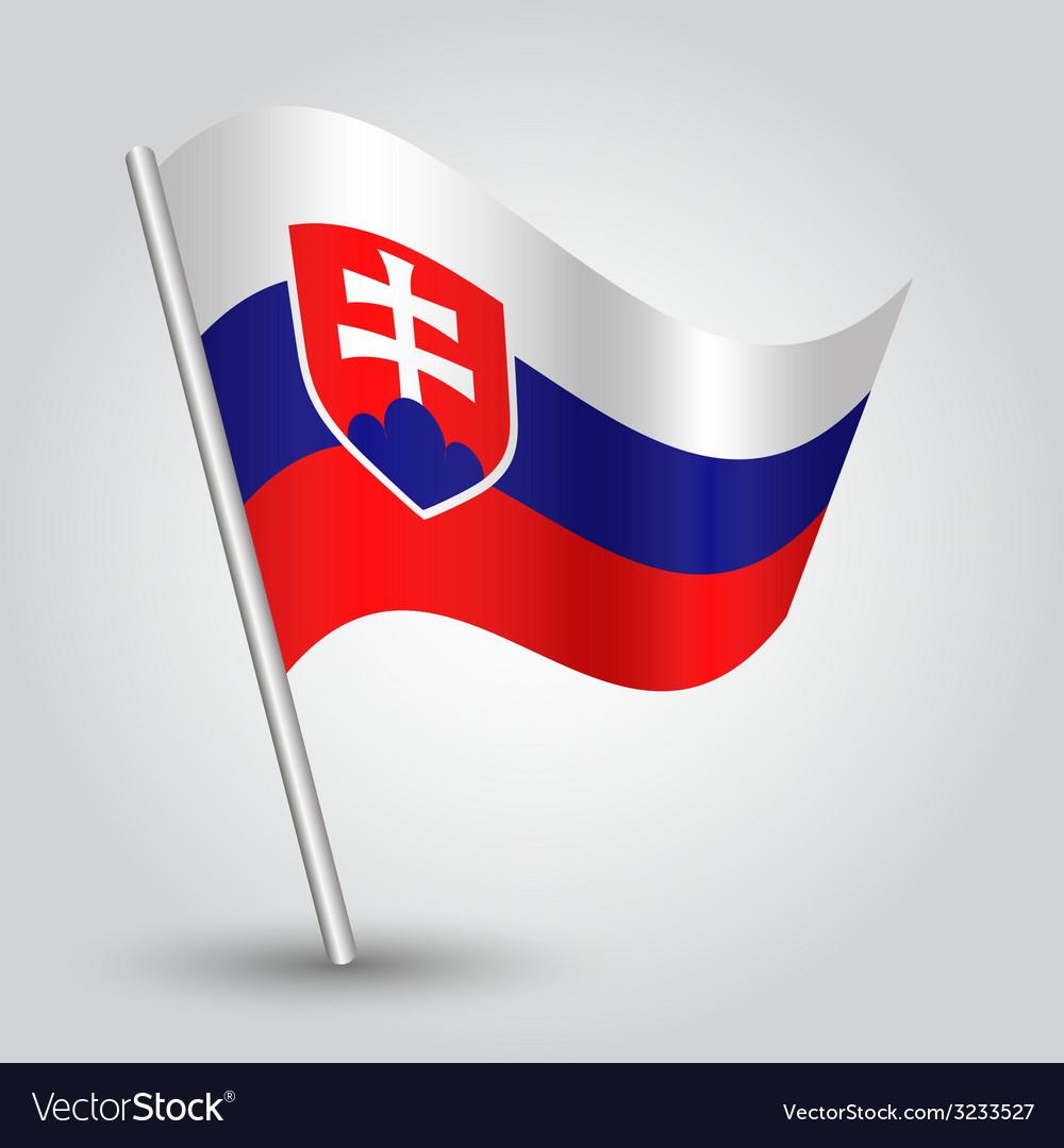 Flag slovakia vector | Price: 1 Credit (USD $1)