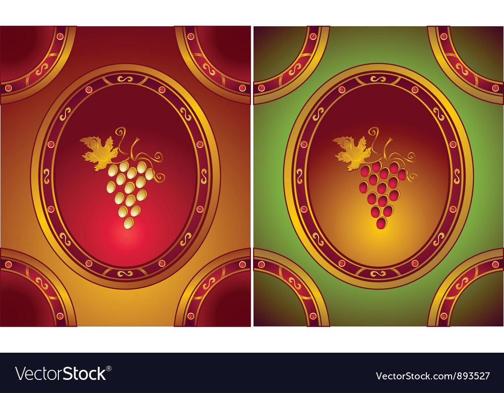 Labels or logo for wines in old style vector | Price: 1 Credit (USD $1)