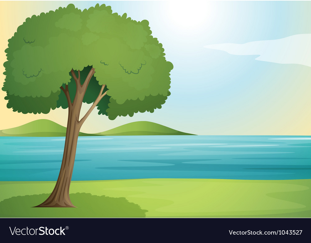 Landscape scene background vector | Price: 1 Credit (USD $1)