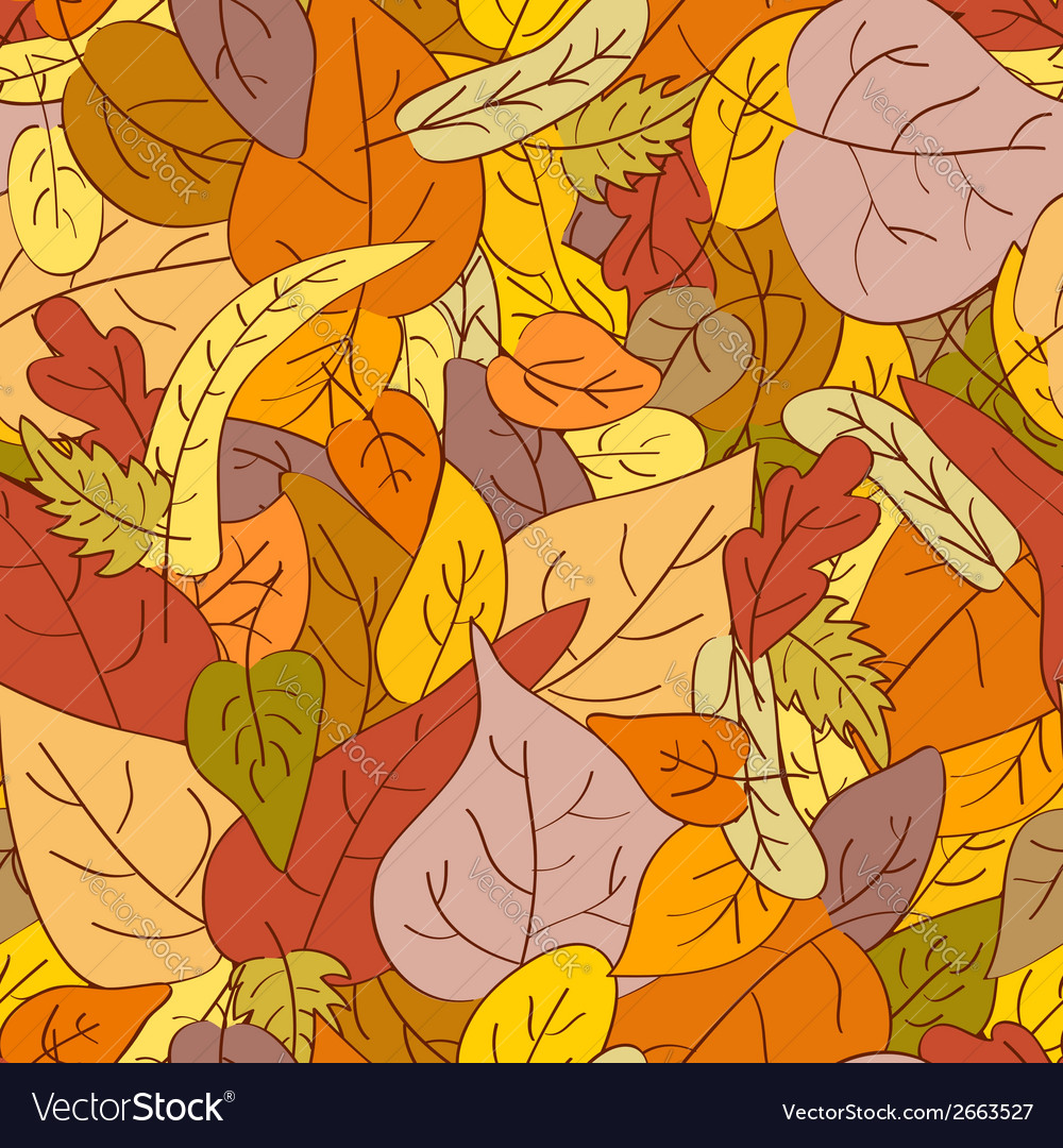 Leaves autumn seamless pattern vector | Price: 1 Credit (USD $1)