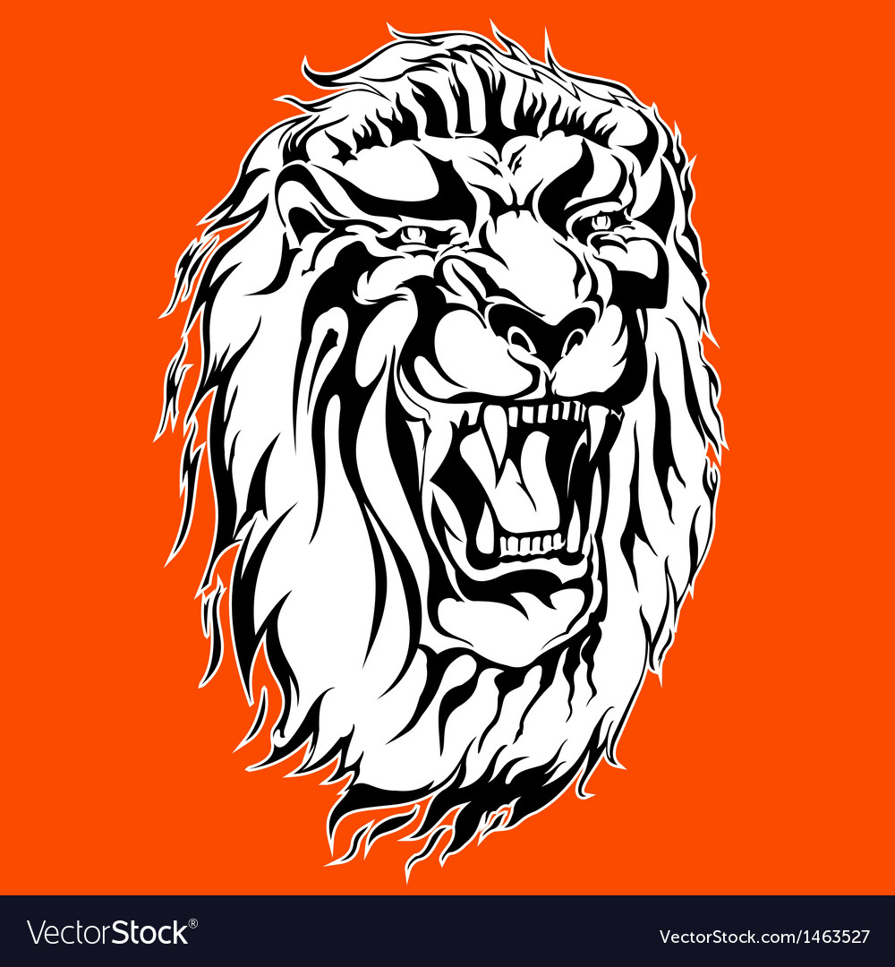 Roaring lion tattoo vector | Price: 1 Credit (USD $1)