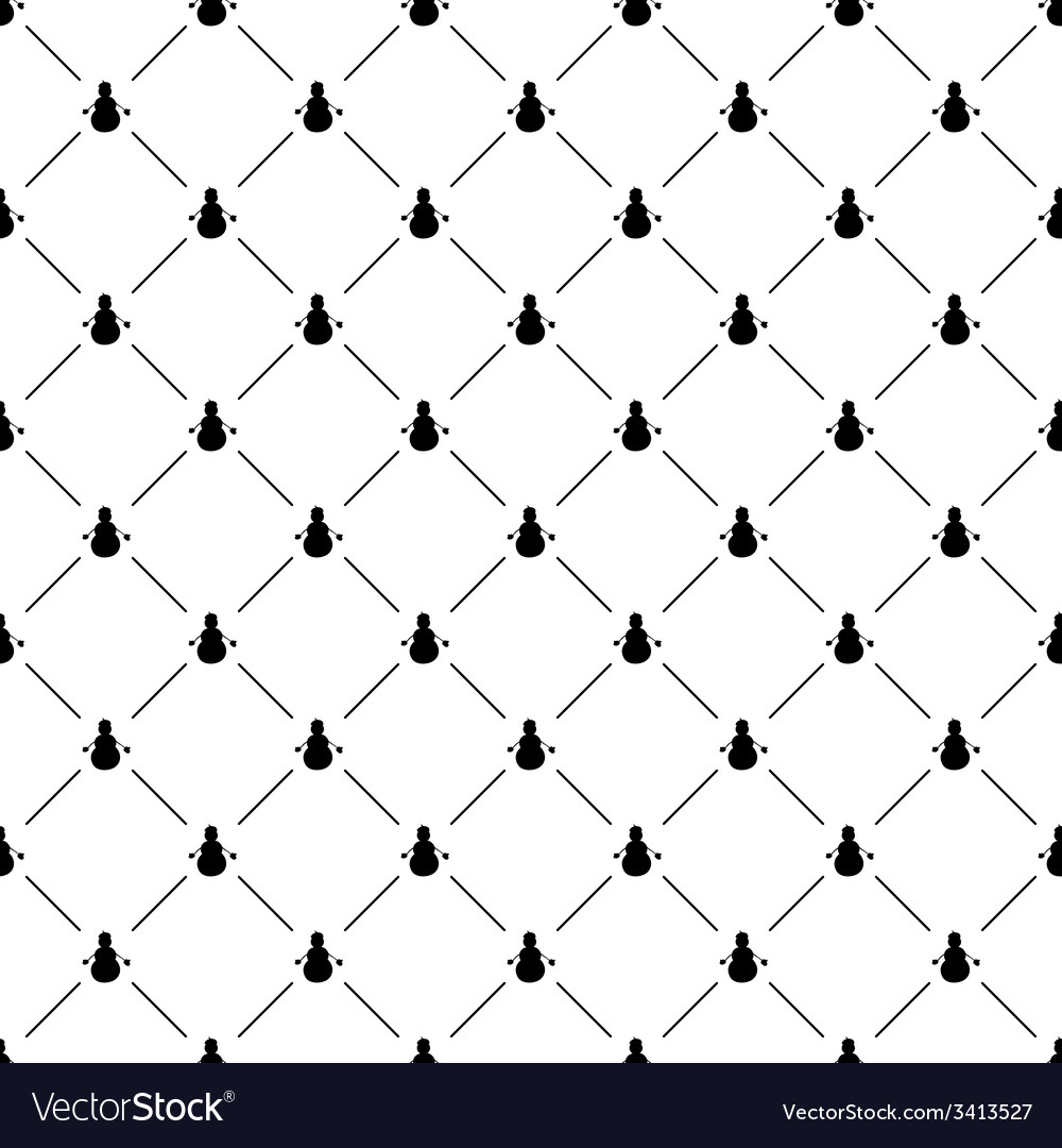 Seamless simple pattern with snowman vector | Price: 1 Credit (USD $1)