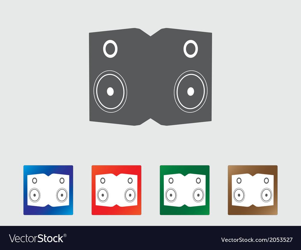 Speakers icons vector | Price: 1 Credit (USD $1)