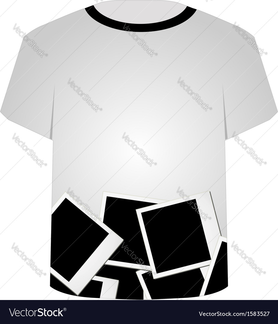 T shirt template- polaroid collage vector | Price: 1 Credit (USD $1)