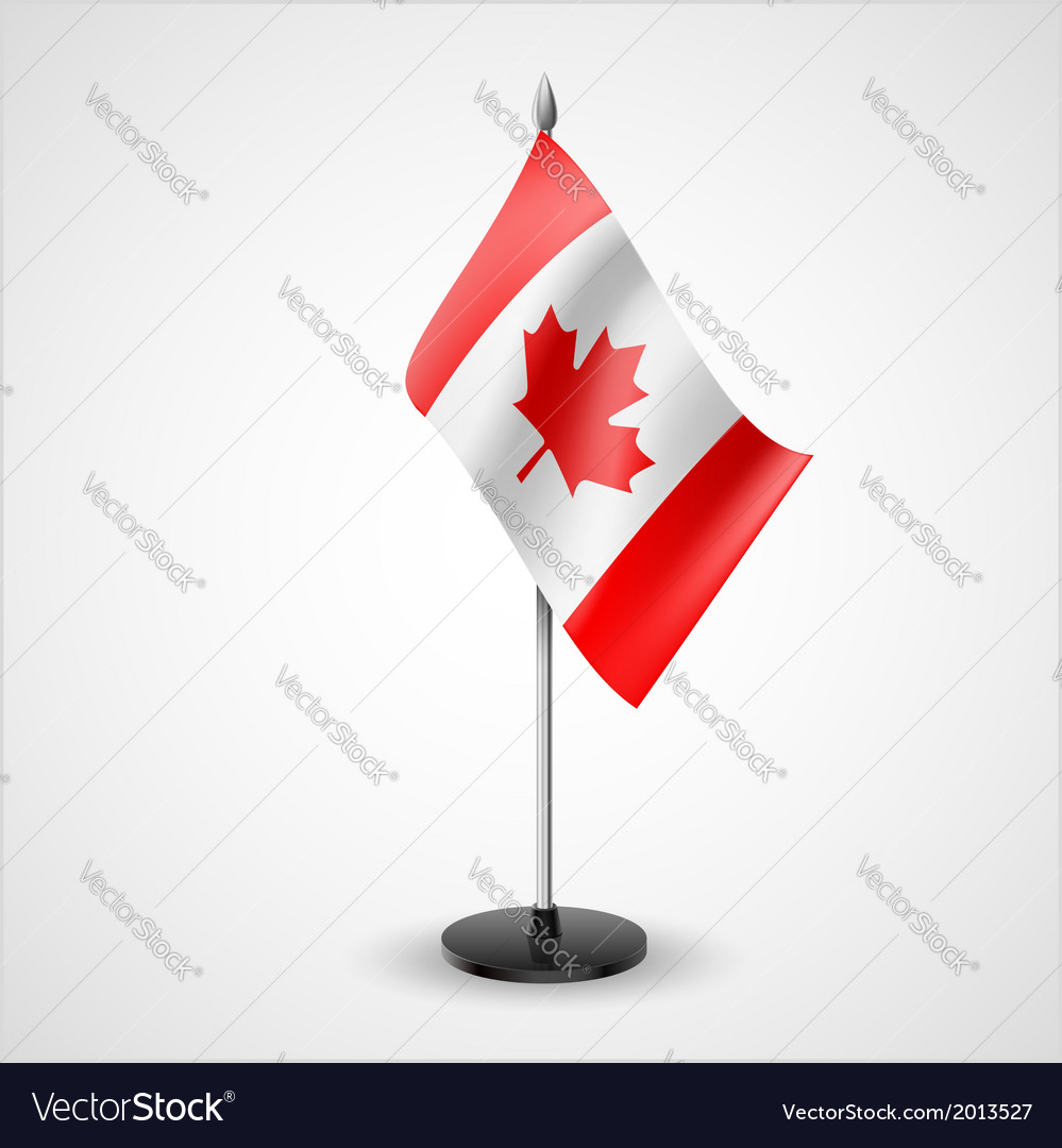 Table flag of canada vector | Price: 1 Credit (USD $1)