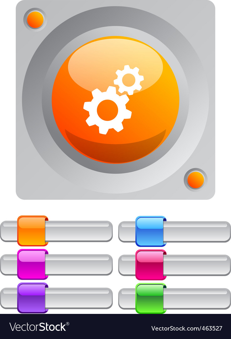 Tools color round button vector | Price: 1 Credit (USD $1)