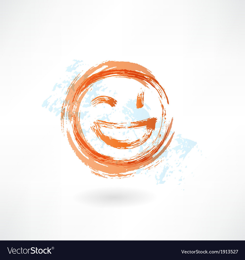 Wink and laugh grunge icon vector | Price: 1 Credit (USD $1)