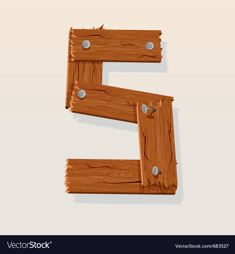 Wooden type 5 vector | Price: 1 Credit (USD $1)