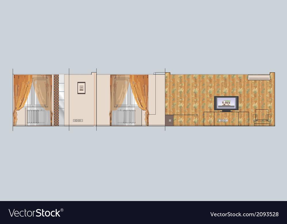 01 residential interior v vector | Price: 1 Credit (USD $1)