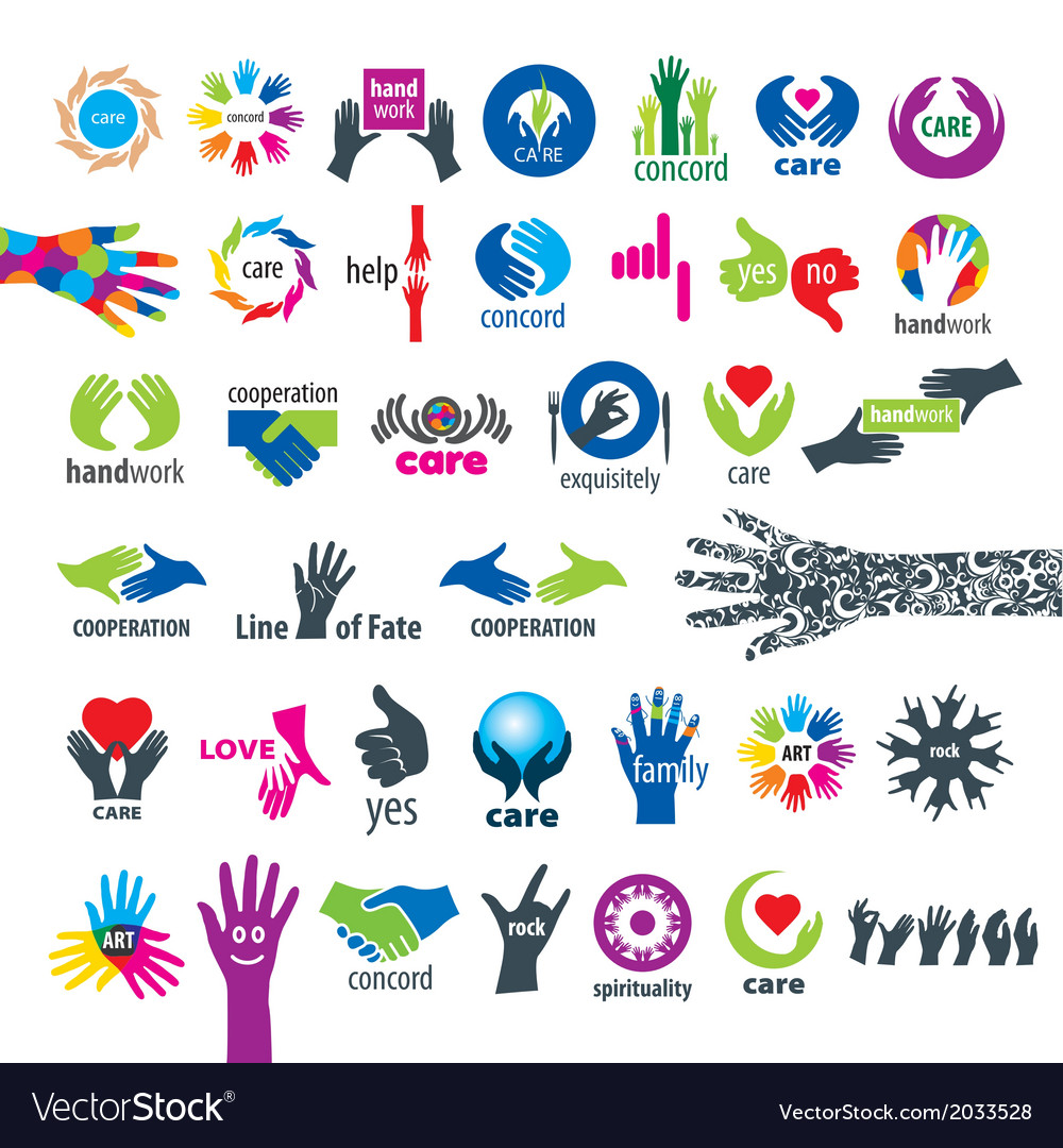Biggest collection of logos hands vector | Price: 1 Credit (USD $1)