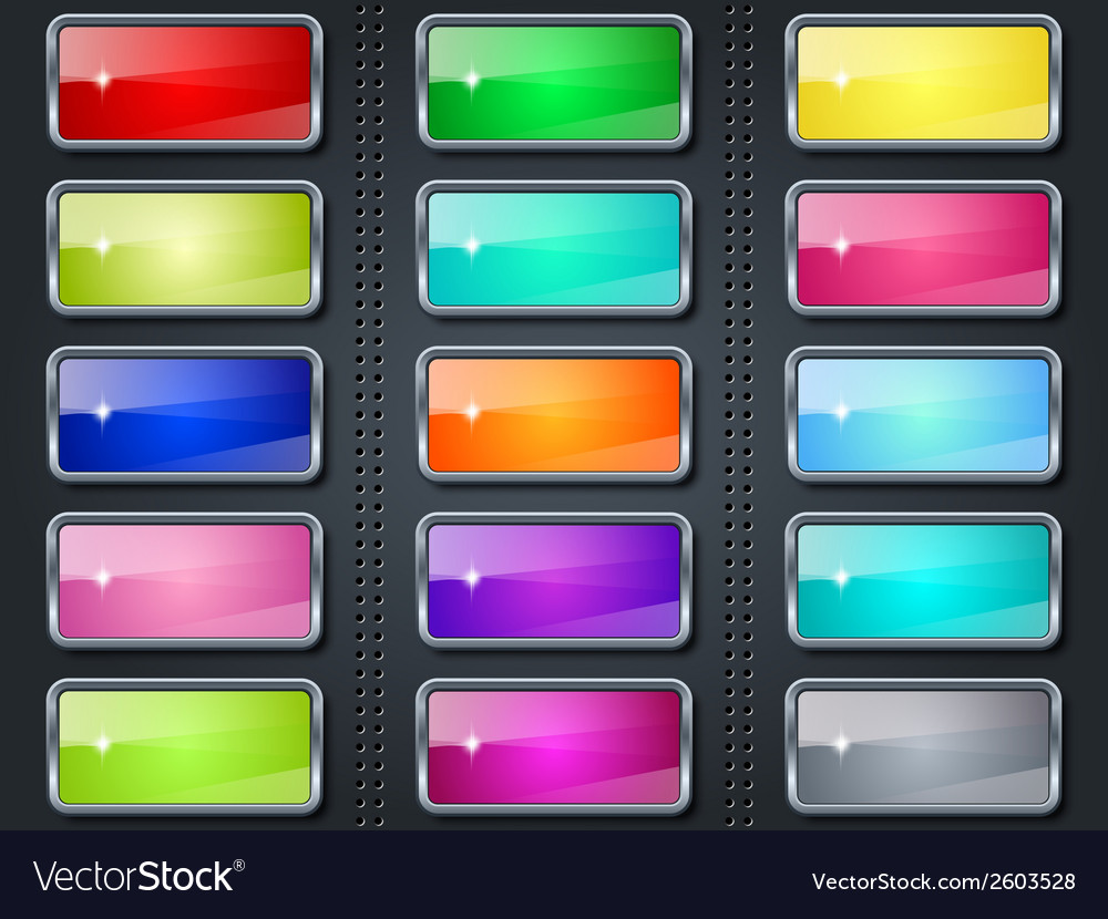 Colorful buttons collection vector   Price: 1 Credit (USD $1)