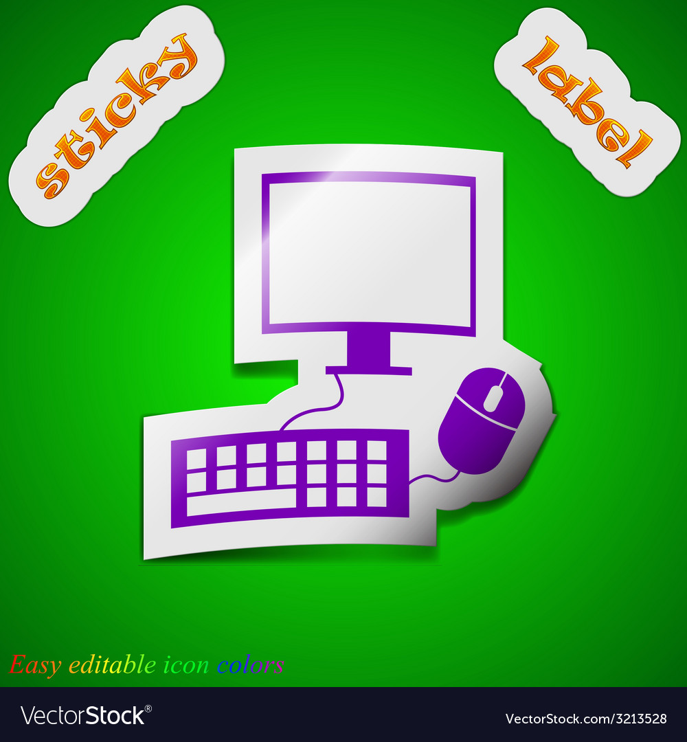 Computer monitor and keyboard icon sign symbol vector   Price: 1 Credit (USD $1)