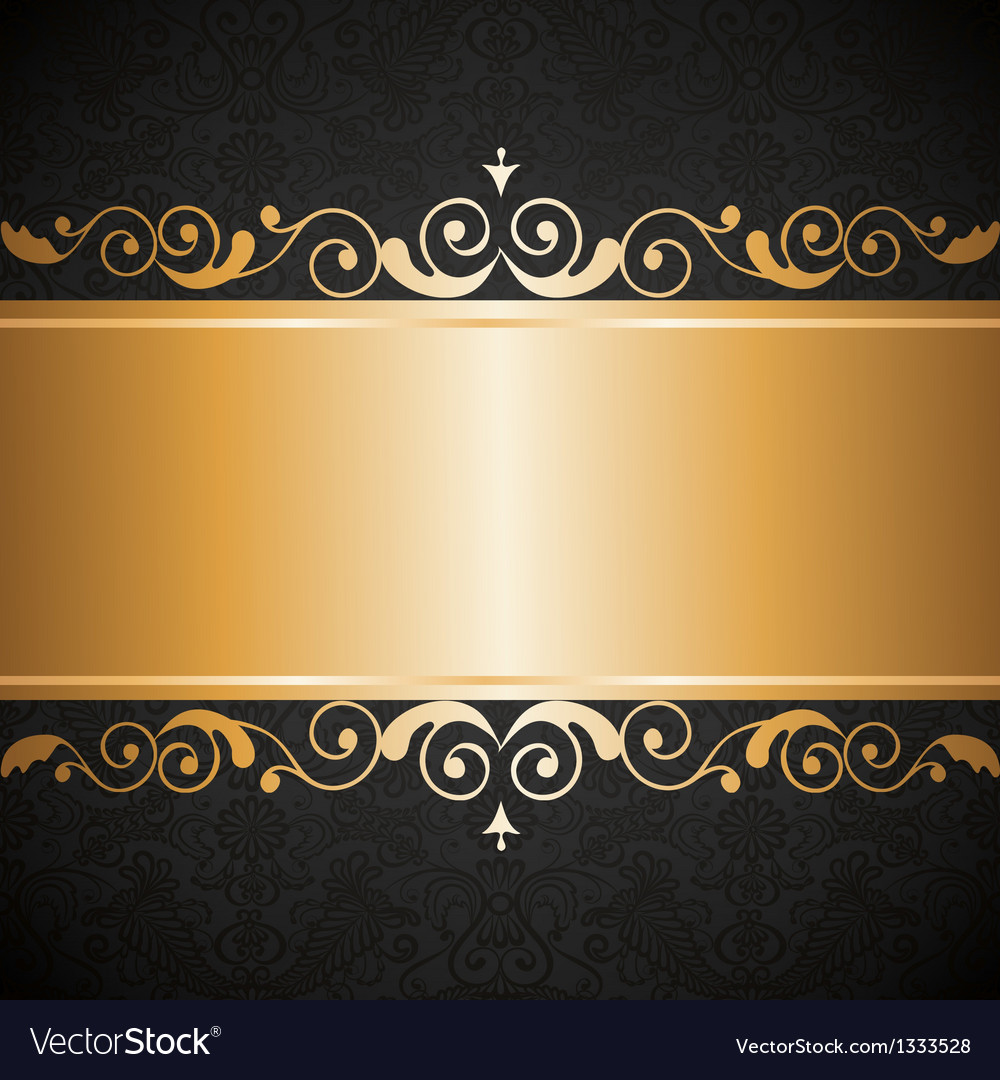 Gold jewelry frame vector | Price: 1 Credit (USD $1)