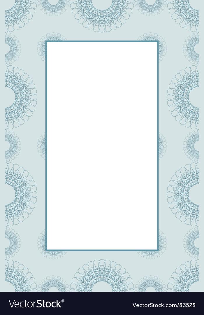 Guilloche frame vector | Price: 1 Credit (USD $1)