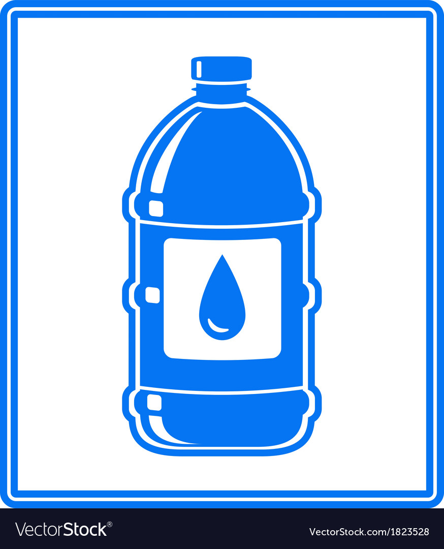 Icon with water drop and bottle vector | Price: 1 Credit (USD $1)