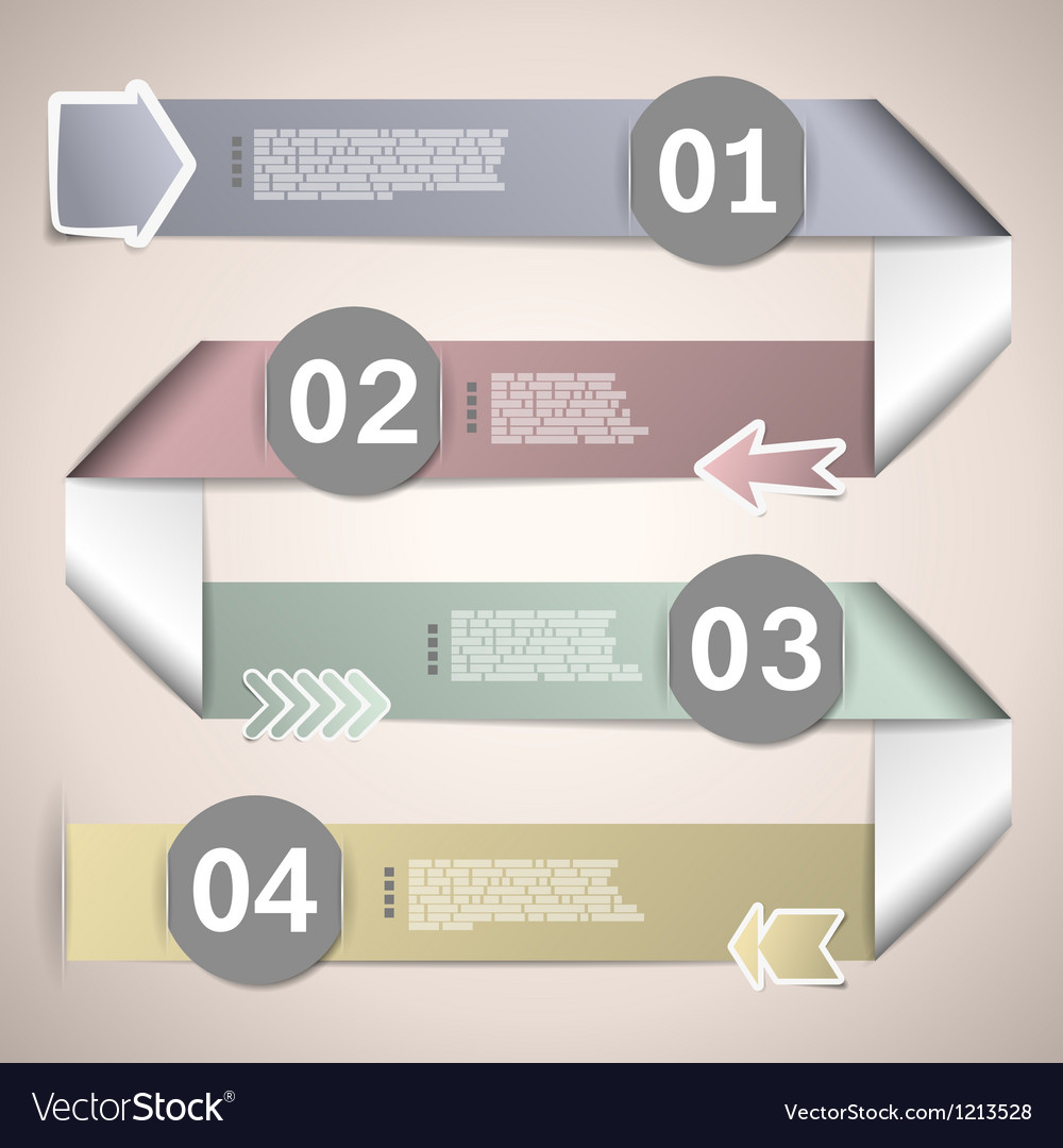 Infographic ribbons for data presentation vector | Price: 1 Credit (USD $1)