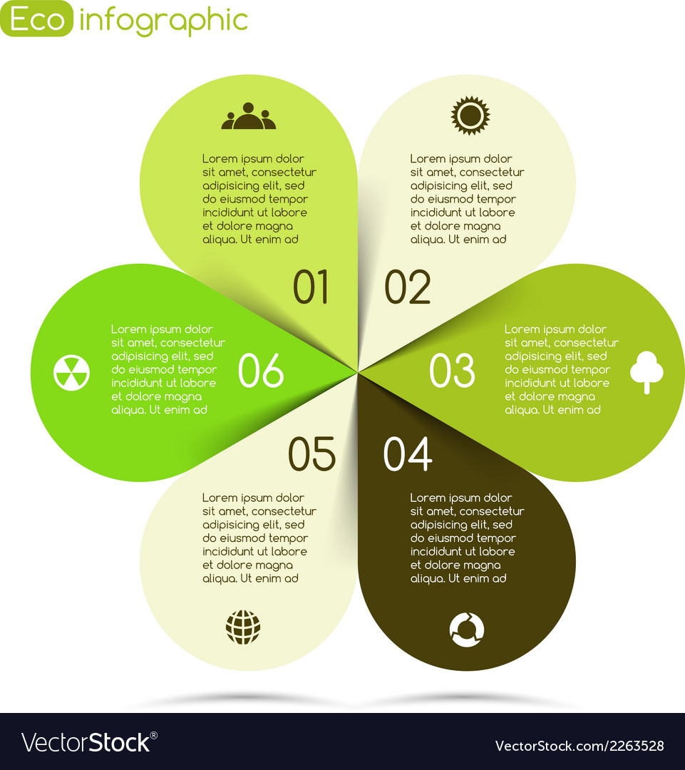 Modern info graphic for eco project vector | Price: 1 Credit (USD $1)