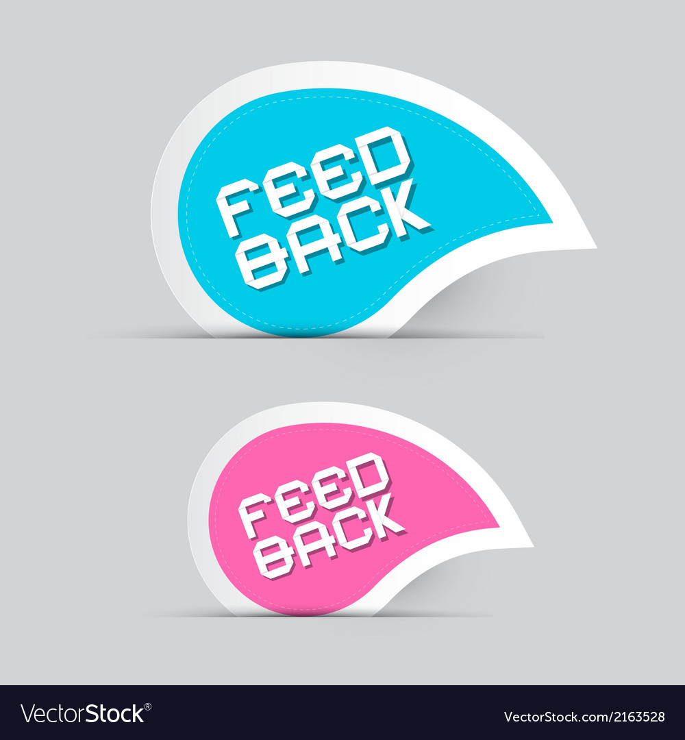 Paper feedback icons isolated on grey background vector | Price: 1 Credit (USD $1)