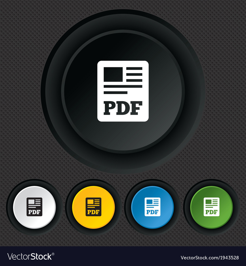 Pdf file document icon download pdf button vector | Price: 1 Credit (USD $1)