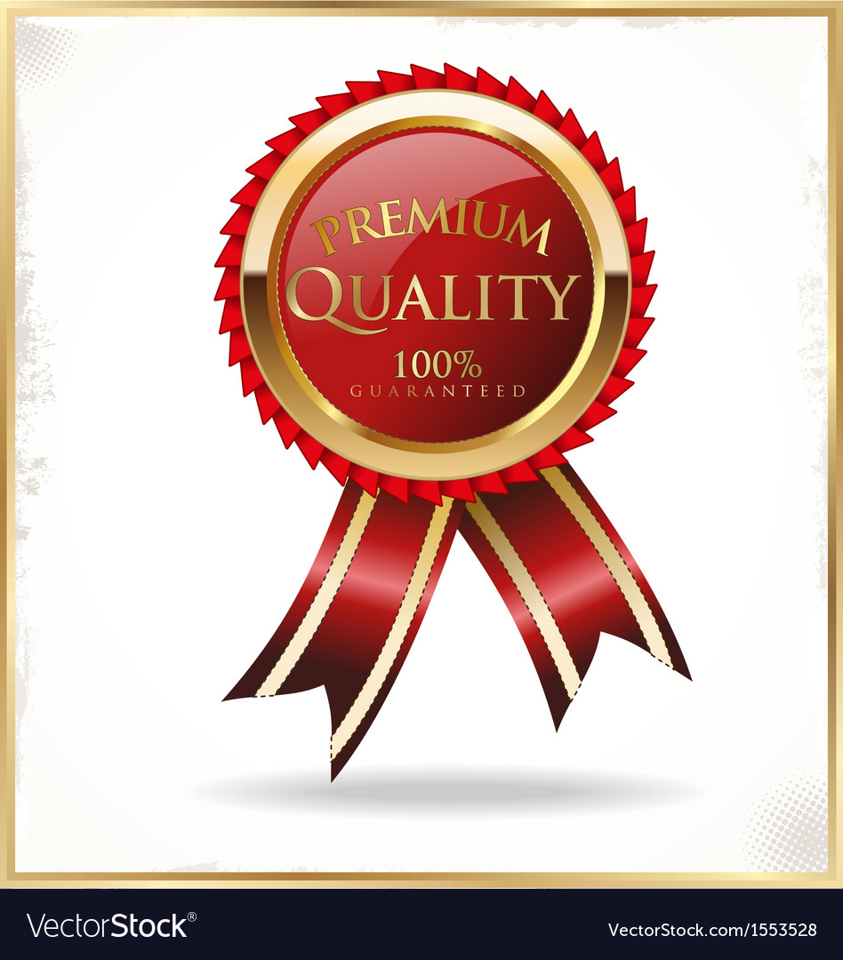 Premium quality red and gold label vector | Price: 1 Credit (USD $1)