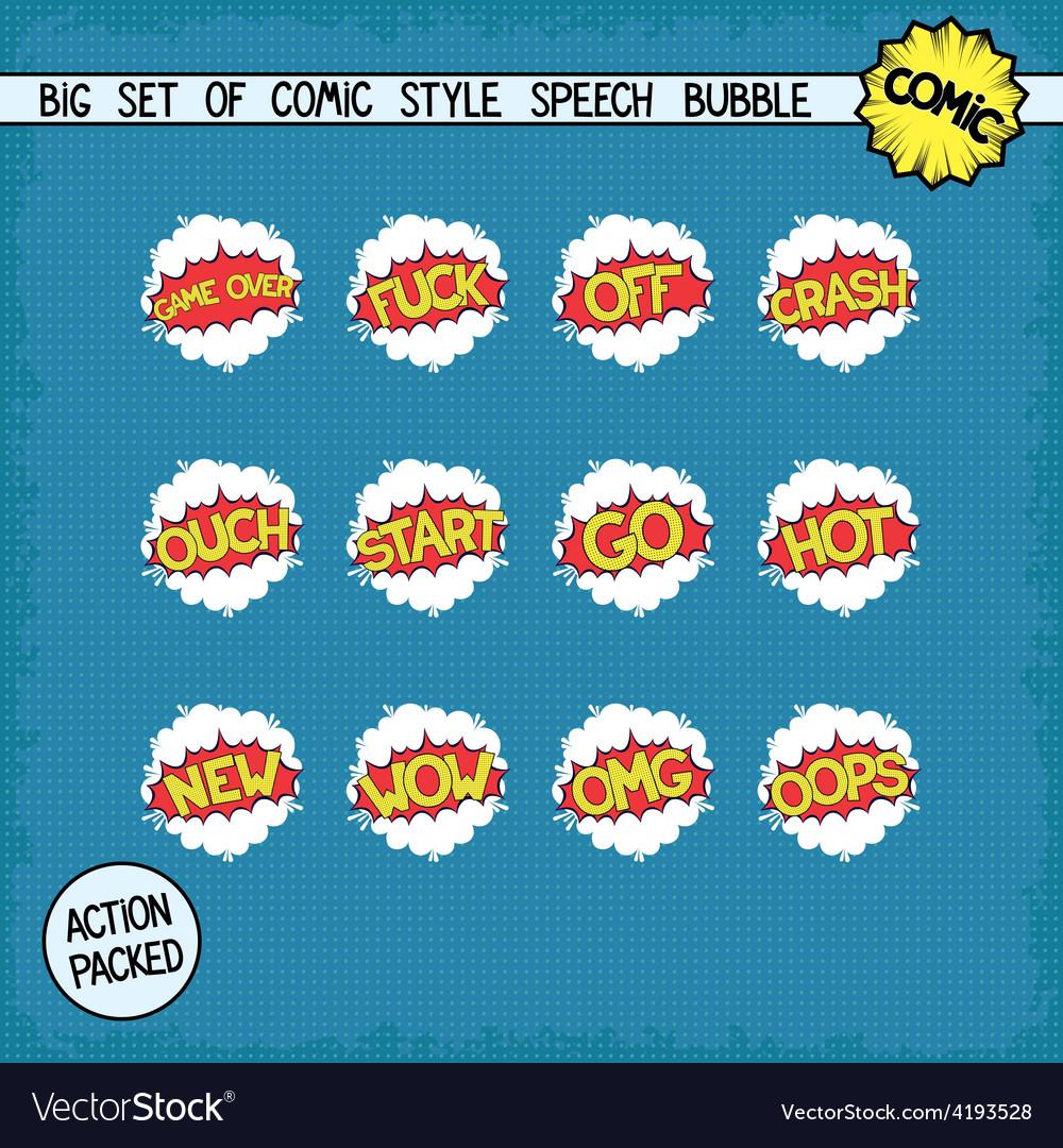 Retro comic bang vector | Price: 1 Credit (USD $1)