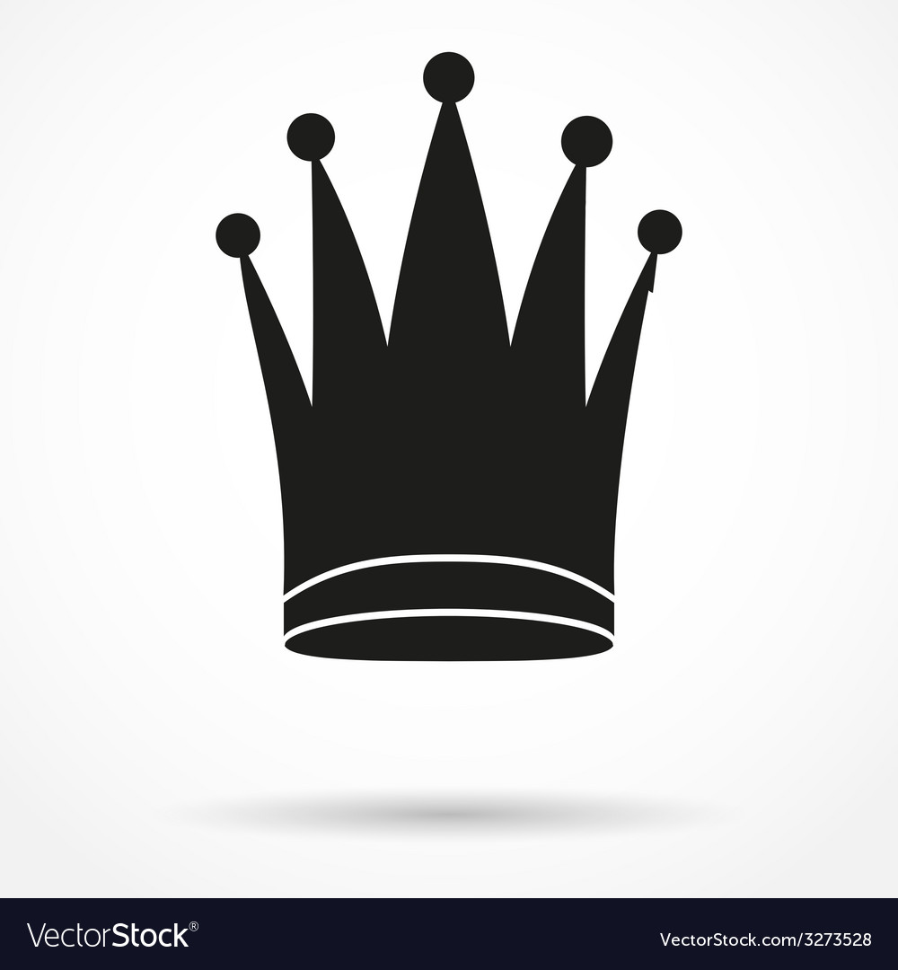 Silhouette simple symbol of classic royal queen vector | Price: 1 Credit (USD $1)