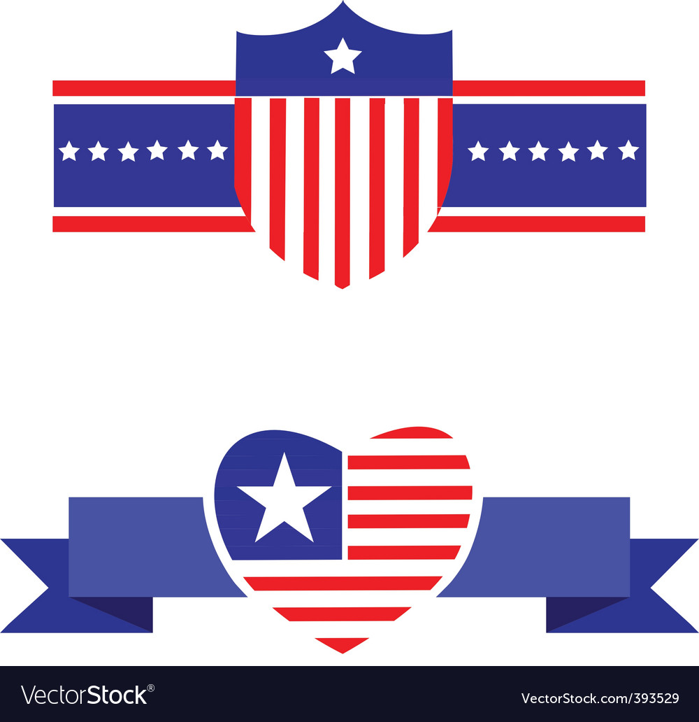 America emblem and sheild vector | Price: 1 Credit (USD $1)