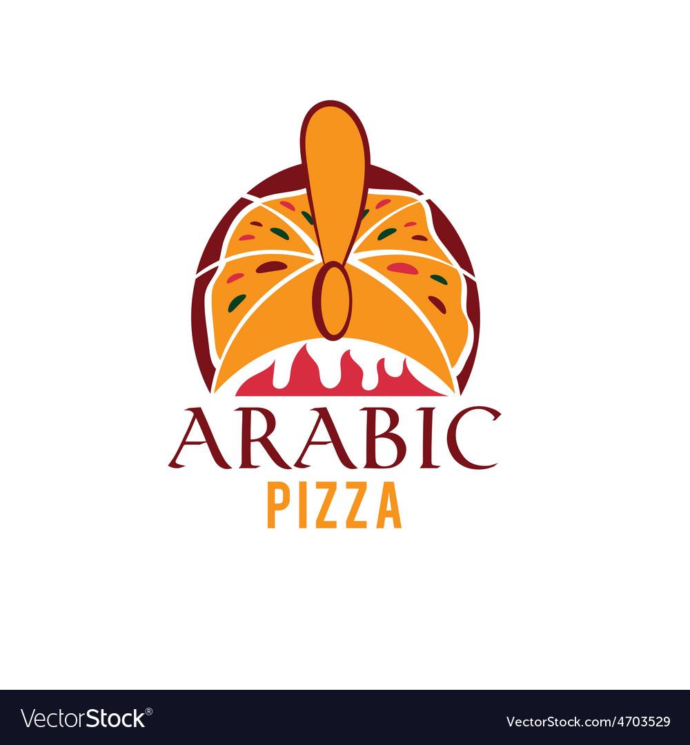 Arabic pizza design template vector | Price: 1 Credit (USD $1)