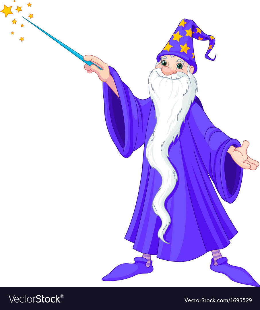 Cartoon wizard vector | Price: 1 Credit (USD $1)