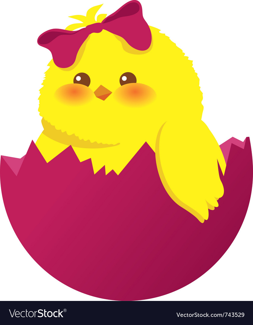 Easter egg and chick vector | Price: 1 Credit (USD $1)