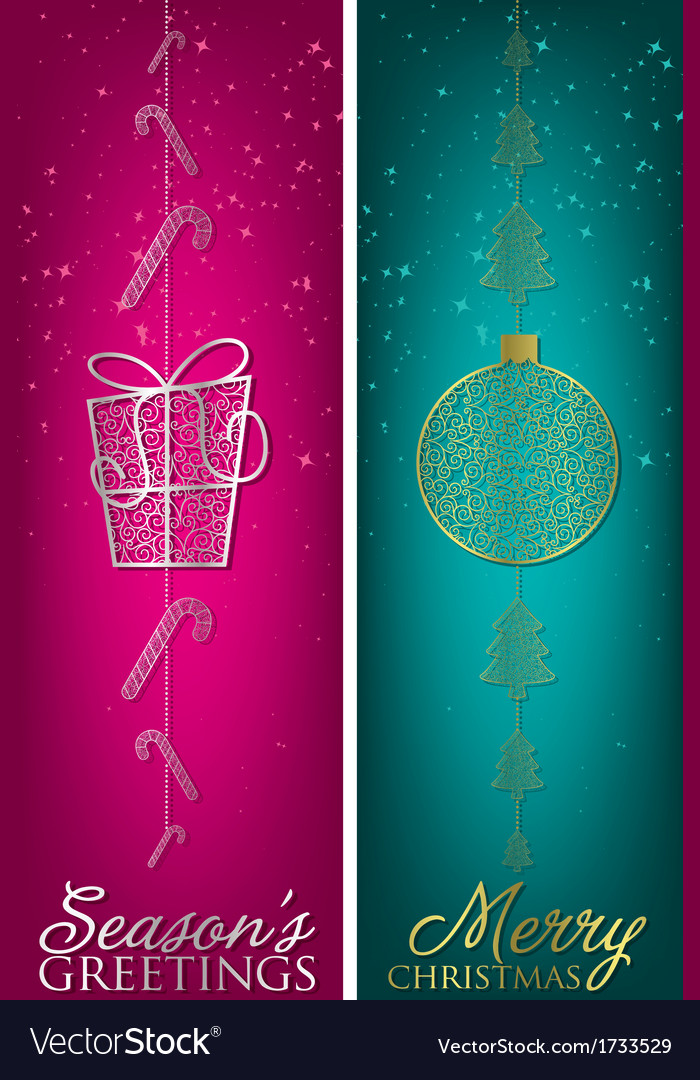Formal christmas filigree banners in format vector | Price: 1 Credit (USD $1)