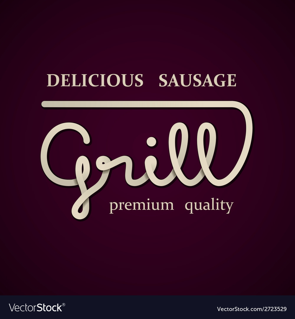 Grill design template vector