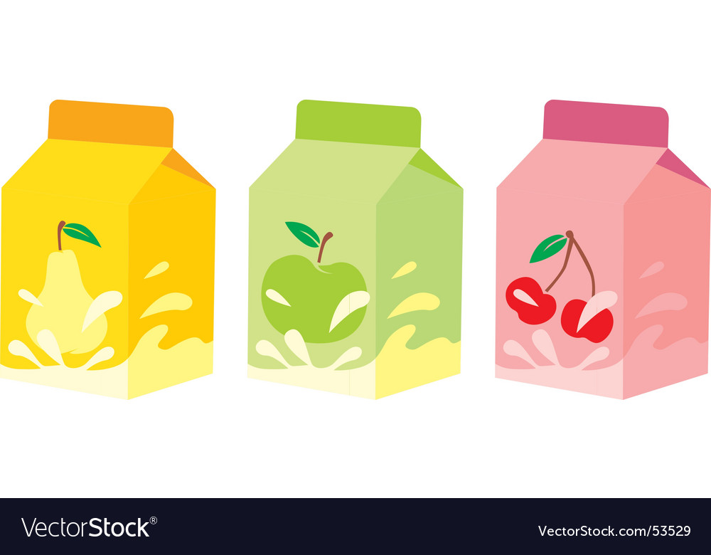 Isolated fruit yogurt carton boxes vector | Price: 1 Credit (USD $1)