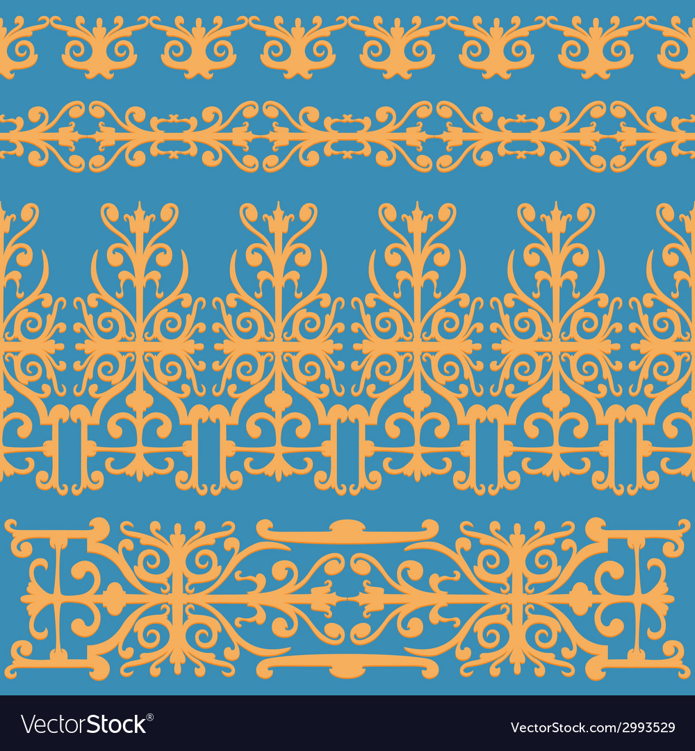 Ornament orange vintage vector | Price: 1 Credit (USD $1)
