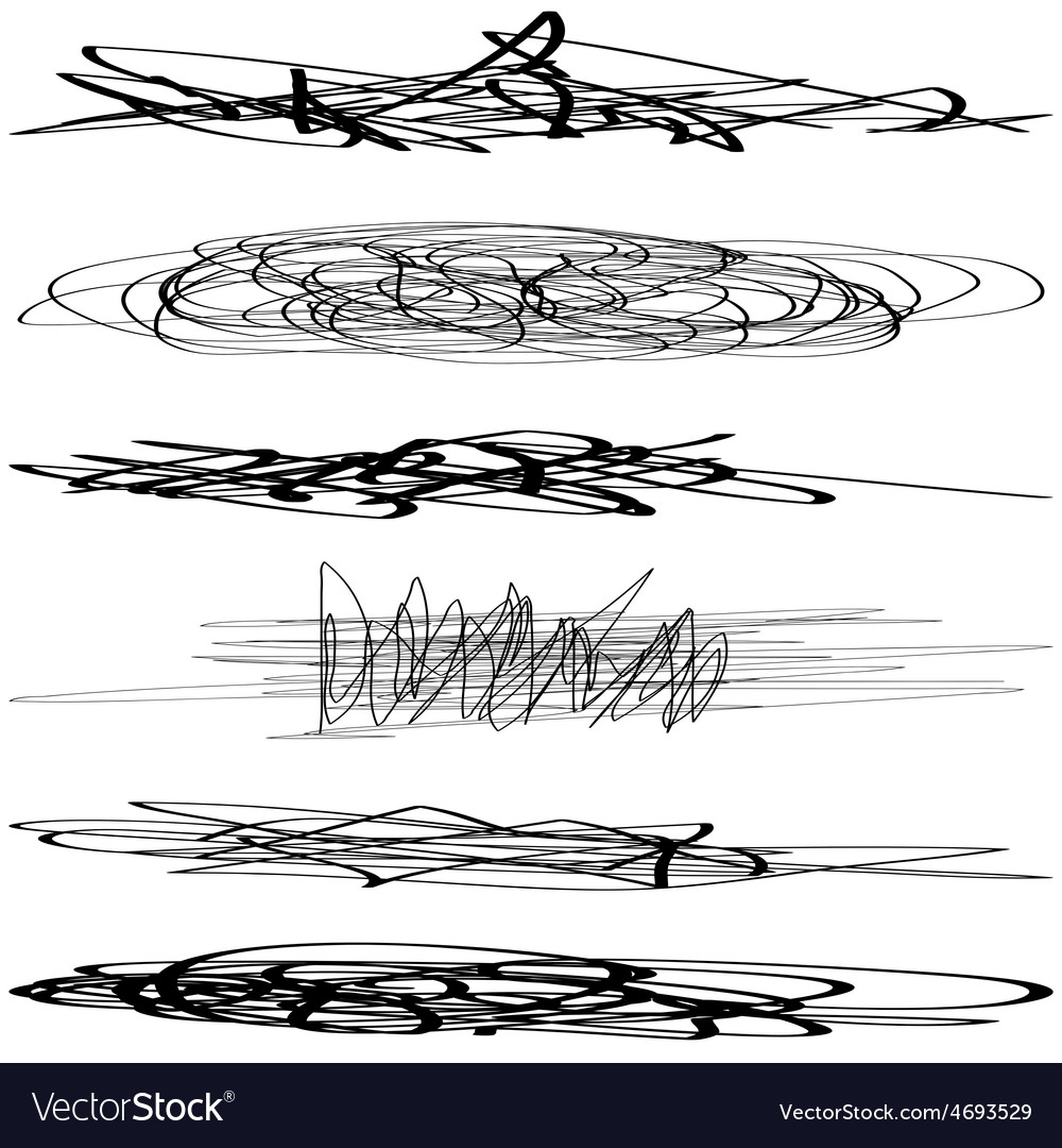 Set scribble vector | Price: 1 Credit (USD $1)