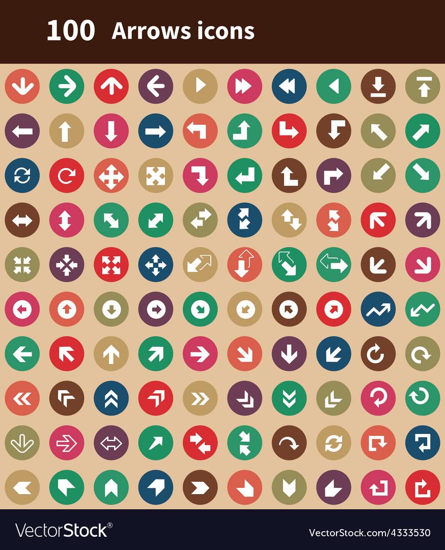 100 arrows icons vector   Price: 1 Credit (USD $1)