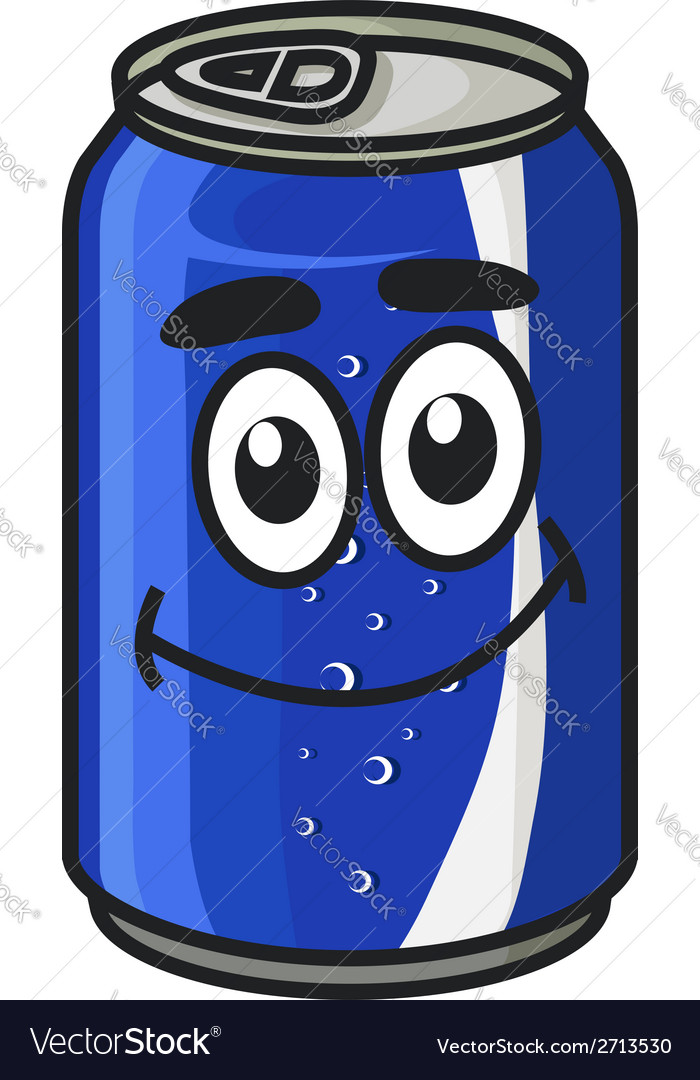 Blue cartoon soda or soft drink can vector | Price: 1 Credit (USD $1)