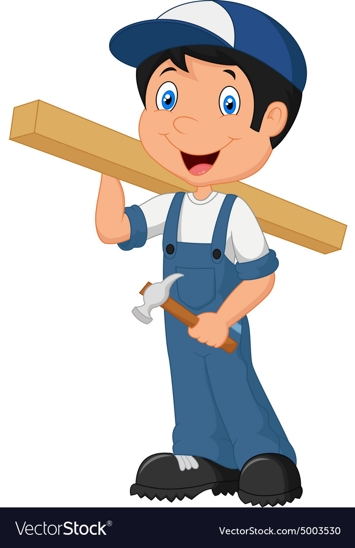 Carpenter cartoon vector
