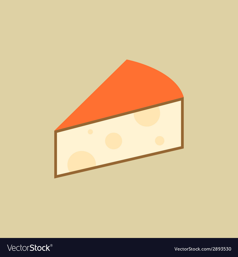 Cheese food flat icon vector | Price: 1 Credit (USD $1)