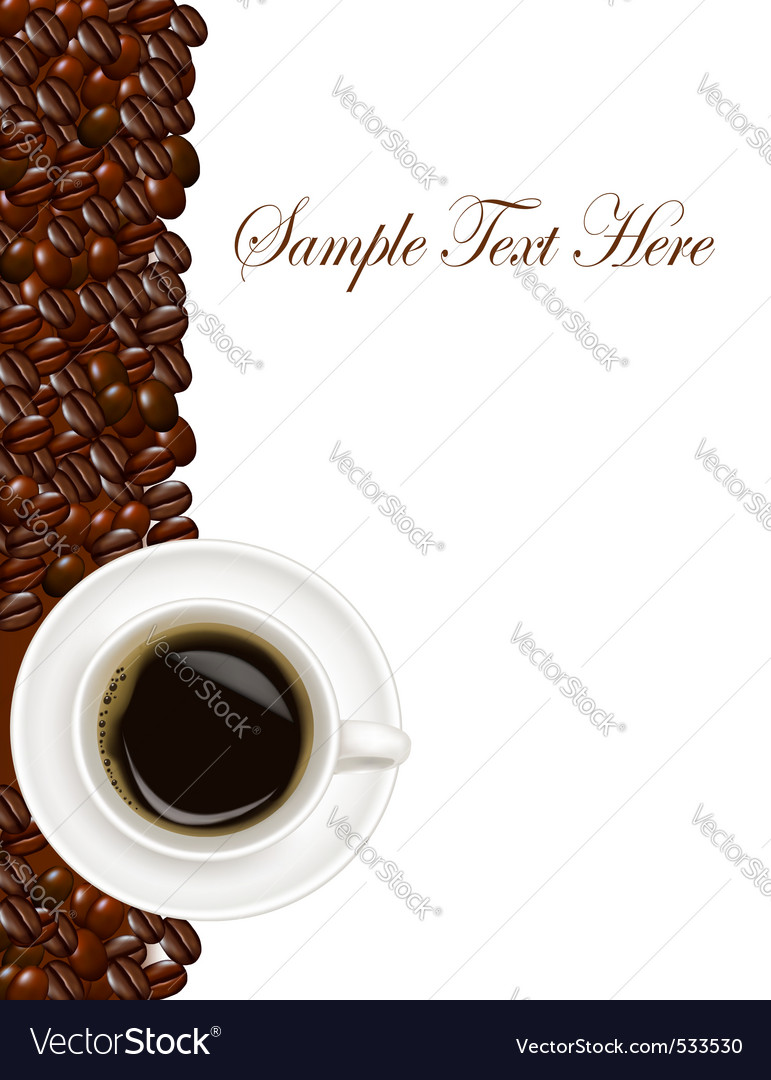 Design with cup of coffee vector | Price: 1 Credit (USD $1)